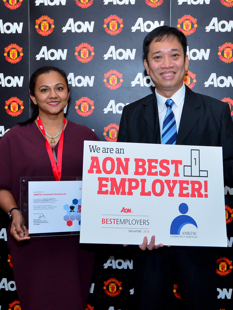 AMKFSC receives Special Recognition at Aon Best Employers Singapore 2018