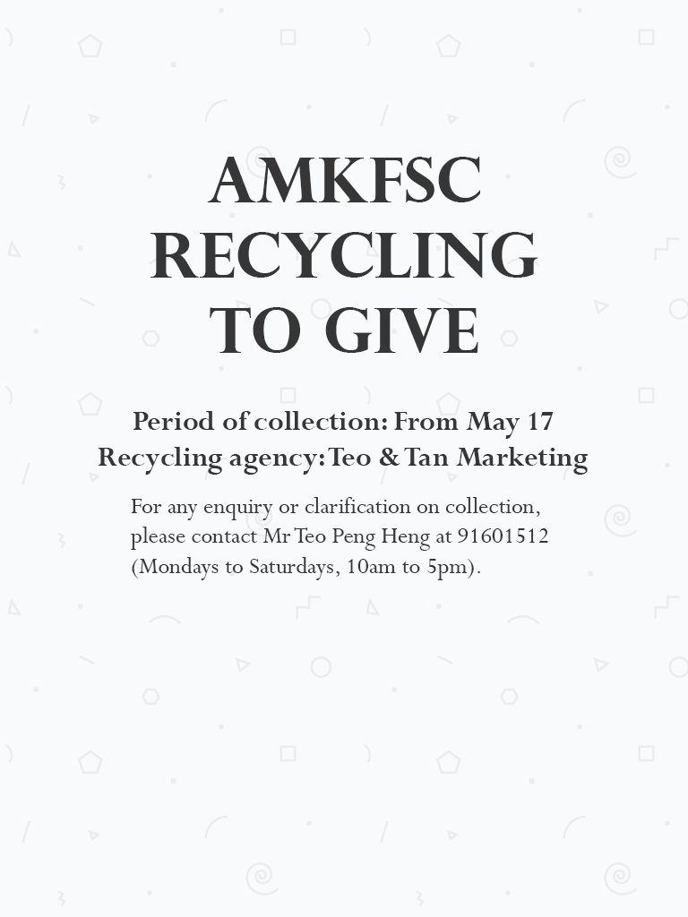 AMKFSC Recycling to Give