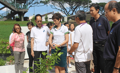 Opening of community garden at COMNET@Sin Ming