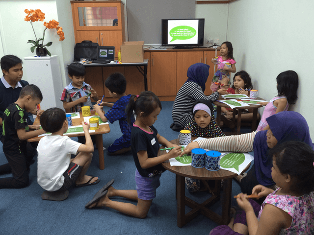 Children participating in the Financial Literacy Workshop