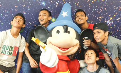 Youths from TEC visits Walt Disney Singapore